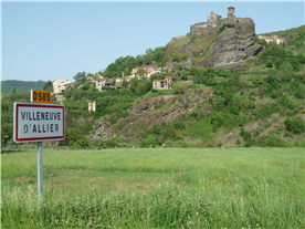View of the Chateau from the road into the village