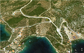Google map of the peninsula and the lots in the cove