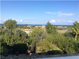 View from balcony to the sea