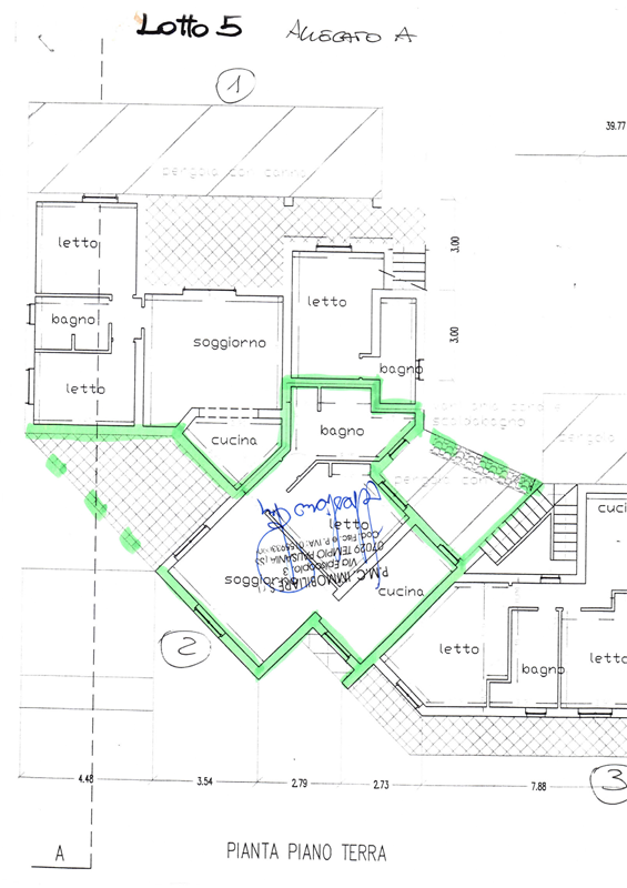 property's planimetry (green highlighted part)