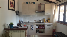 Fully equipped kitchen in rental unit