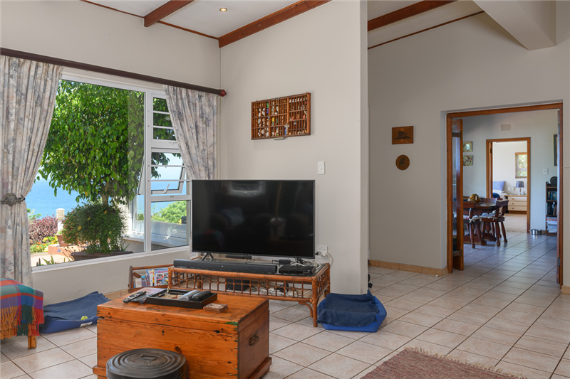 Lounge with Sea Views Leading to Front Door and Reception Room 1