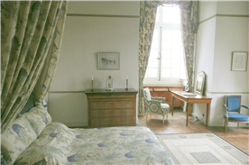 One of the 11 bedrooms, Le Sénéchal has views in two directions over the valley and surroundings