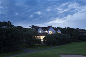 This exquisite home is set on the beautiful golf course at Zimbali Coastal Resort.