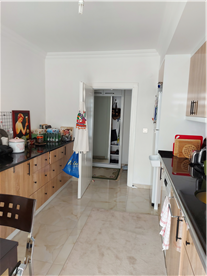 Remodeled kitchen with extra cabinets