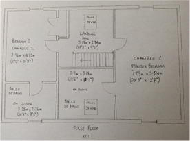 FIrst floor -  not to scale