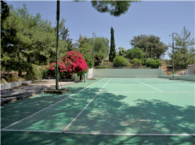 Tennis Court looking towards house