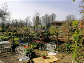 View from courtyard garden