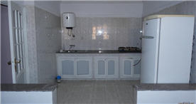 Kitchen area, large and spacious.