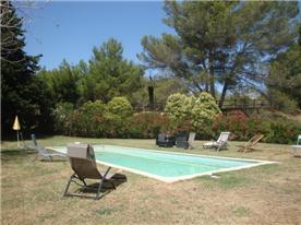 Idyllic pool and princioal garden