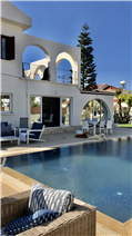 Side View of Villa from Pool Terrace
