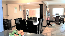 Open plan living area taken from kitchen