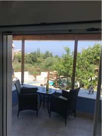 Balcony view through Living / Dining Area