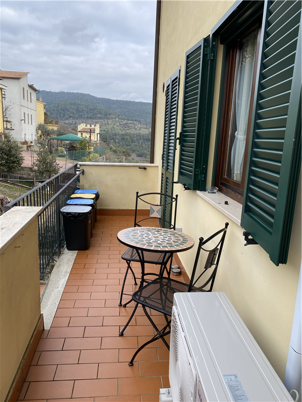 Downstairs terrace view.