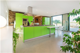 Bontempi kitchen with a six-person-table located in a catalan property for sale close to Barcelona