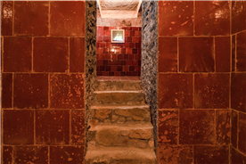 wine cellar located in the country house for sale in Spain, close to Barcelona