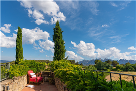magnificent views to montserrat mountain of a country house for sale in Barcelona, Spain