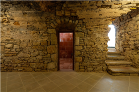 cellar of 15th century of  country house for sale in Spain, close to Barcelona
