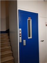 Lift/elevator and stairs