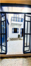 View from reception room onto interior courtyard