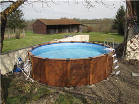 Pool and open barn