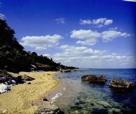 Small quiet beach