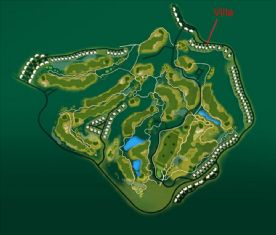 Plan of Golf Course showing location of villa