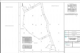 Topographical layout plan