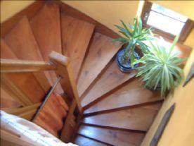 Cherry wood stairs between all floors