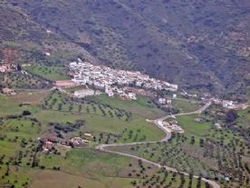 House in Foreground, Village Above