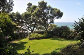 Garden tracks down to a safe swimming cove