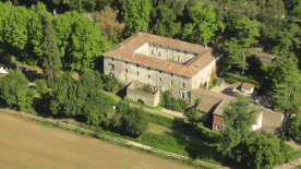 Overhead view of the Domaine