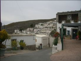 looking from the plaza over the village
