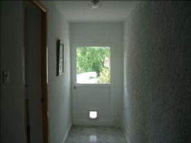 downstairs door to garden
