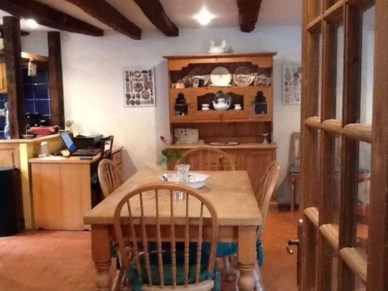 Dining area from hall