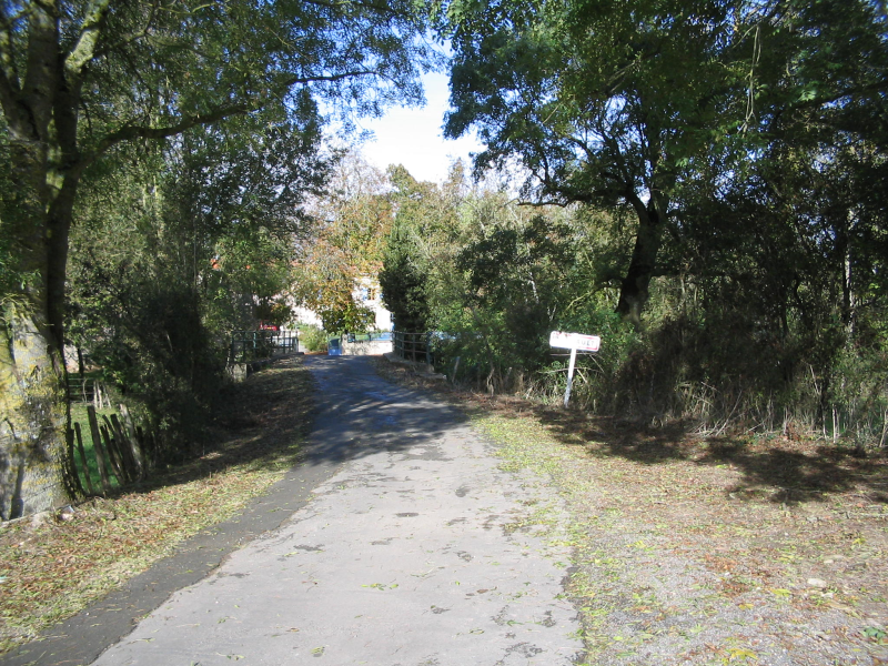 One entrance to the village