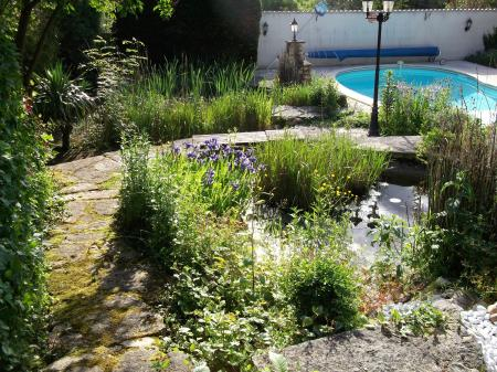 Gardens with Two ponds and pool