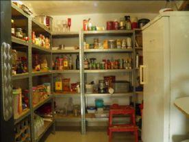 underground pantry directly off kitchen