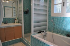 Bathroom with seperate shower