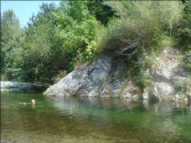 Our secluded river bathing spot