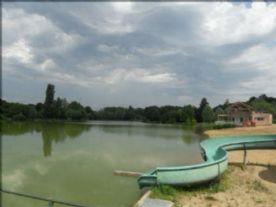 Lake and beach La Puye