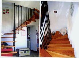 La Cascina del burro bianco - Larch staircase