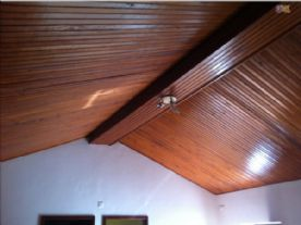 ceiling of the kitchen/living room