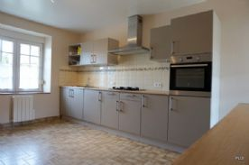 Integrated electric oven and gas hob