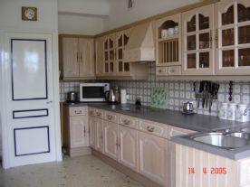 kitchen showing door to cave