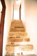 Stone stairs to top floor