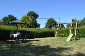 Enclosed hedged garden