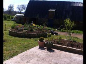 View facing onto the garden