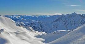 Skiing at La Mongie