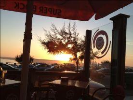 Sun going down at Foz do Arelho